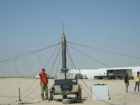 set up the 21m pneumatic telescopic masts