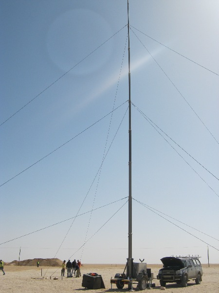 finished mounting 21m masts for outside telecommunication application