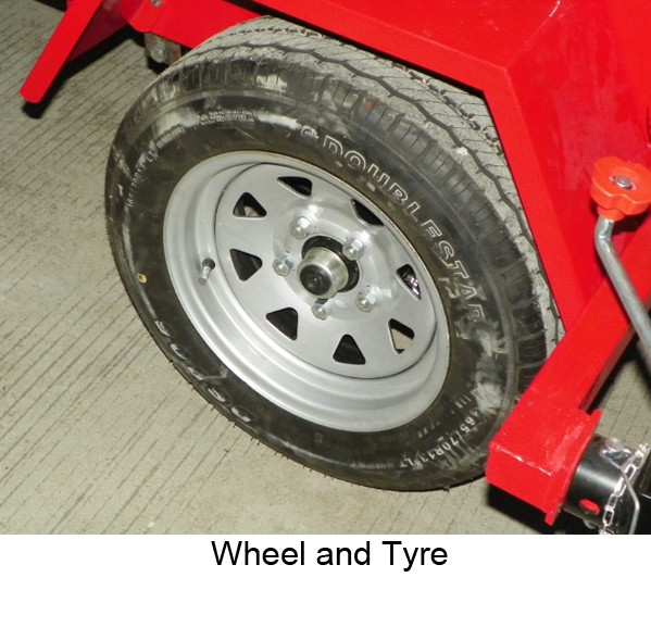 Wheels and Tyre of PHT-1400-G1